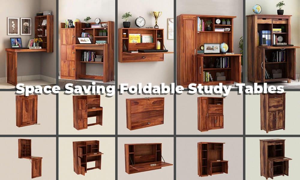 Best Space Saving Folding Study Table Design Ideas Woodenstreet
